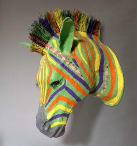 Emmanuelle Siary, ZEBRA (2011 - Sculpture papier) Retour d'Afrique