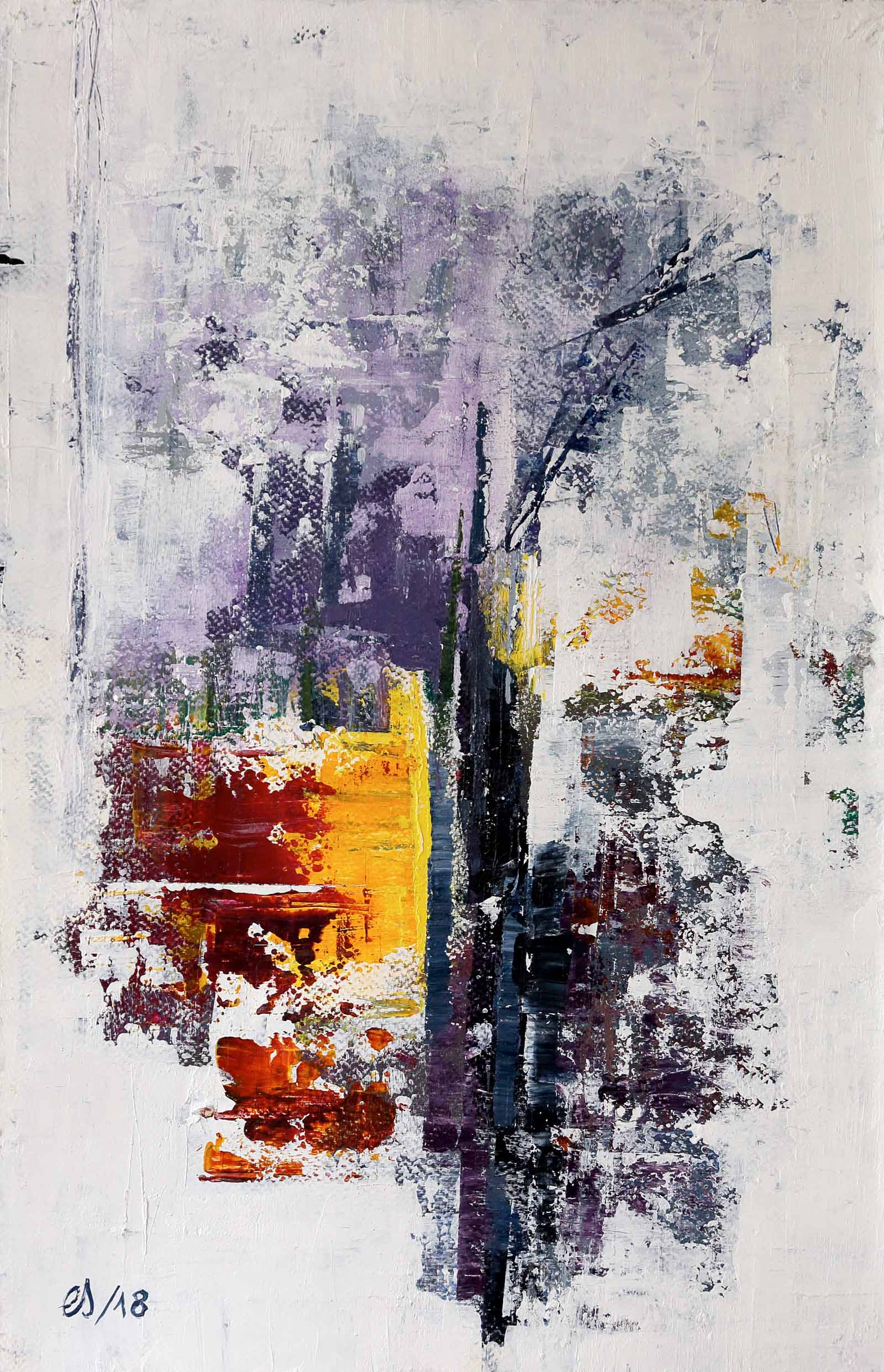 Emmanuelle Siary - ABSTRACT 5 (2018 - 50X32 - Acrylique sur toile)