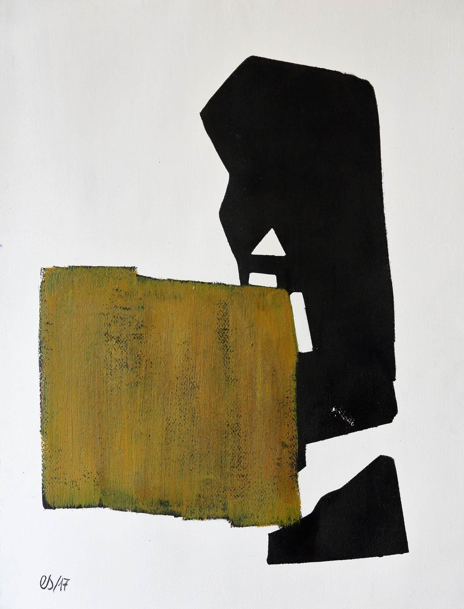 Emmanuelle Siary - EMPREINTE 5 (2017 - 65X50 - Acrylique sur papier)