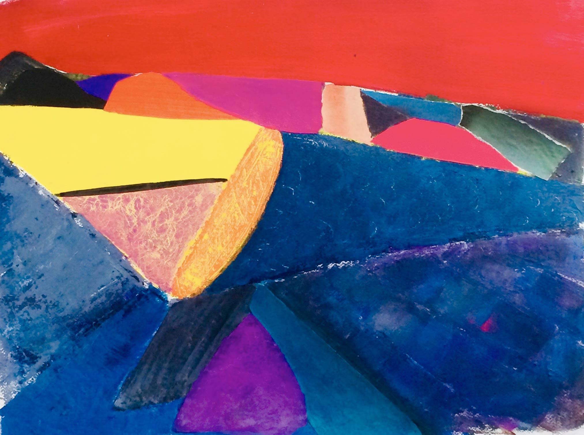 Emmanuelle Siary - (2018 - 65X50 - Acrylique et collages sur papier)